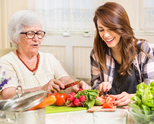 in home senior helpers and caregivers